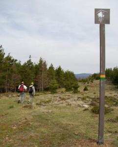 senderismo en la vía romana en La Rioja