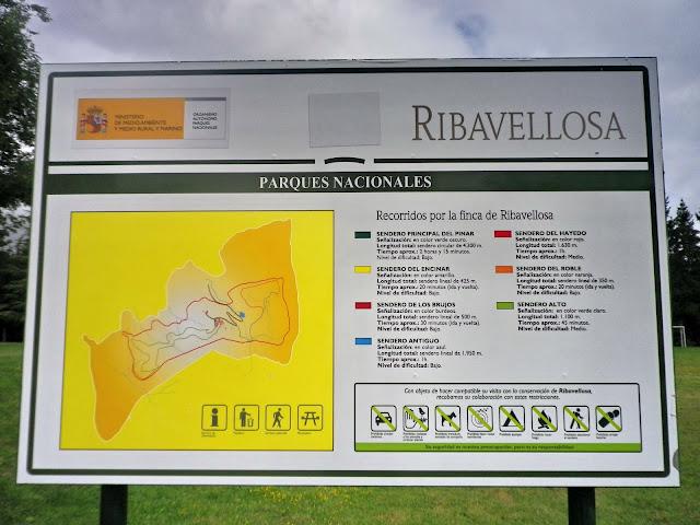 panel de senderos de Ribavellosa